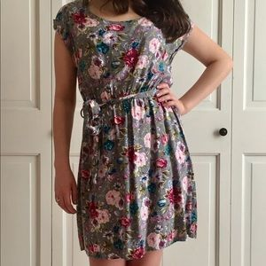 FLOWER PATTERN SUMMER DRESS